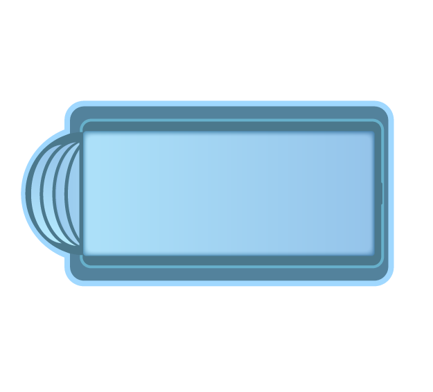 Стекловолоконный бассейн БСВЦ 11