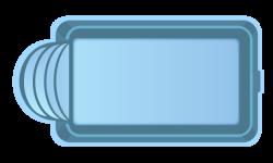 Стекловолоконный бассейн БСВЦ 13