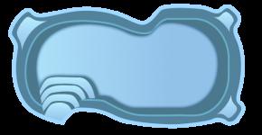 Стекловолоконный бассейн БСВЦ 8