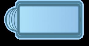 Стекловолоконный бассейн БСВЦ 12